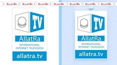 Badge AllatRa TV and Ribbon