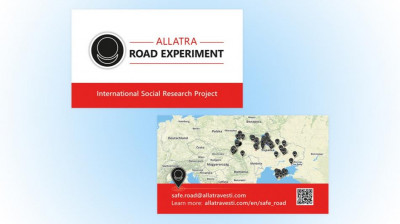 Business card Road experiment