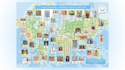 Infografiky Symbol osvietenia v artefaktoch rôznych kultúr sveta