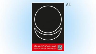 Nálepka (pohlednice) Snížení havárií na silnicích A4